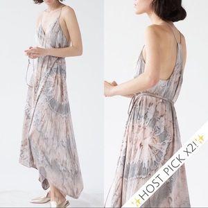 ✨HPx2!✨NWT Enza Costa Silver Silk Print Wrap Dress